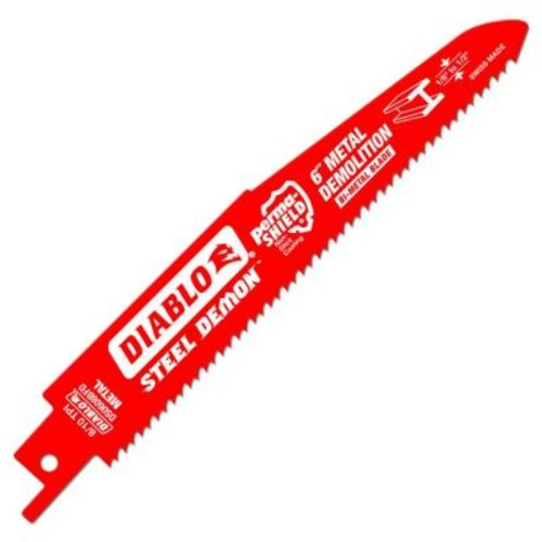 Diablo 6 in. 8/10 Teeth per in. Steel Demon Metal Demolition Reciprocating Saw Blade (25-Pack)