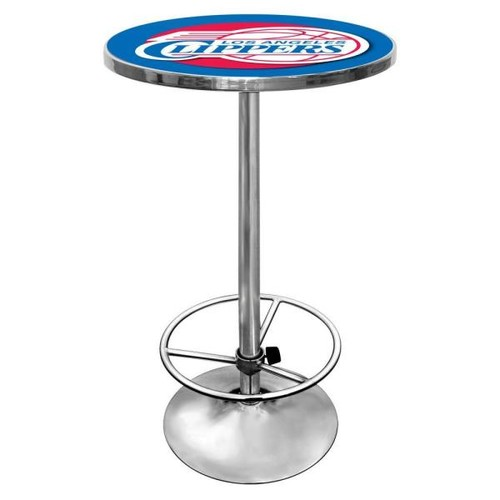 Trademark NBA Los Angeles Clippers Chrome Pub/Bar Table