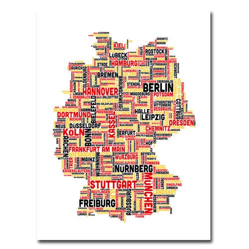 Trademark Global Michael Tompsett 'Germany I' Canvas Art [Overall Dimensions : 18x24]