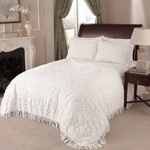 Medallion Chenille Bedspread - King