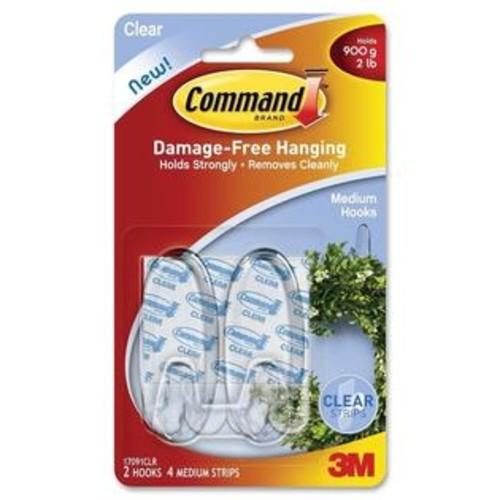 Command 3M Command Adhesive Strips Medium Hanging Hooks