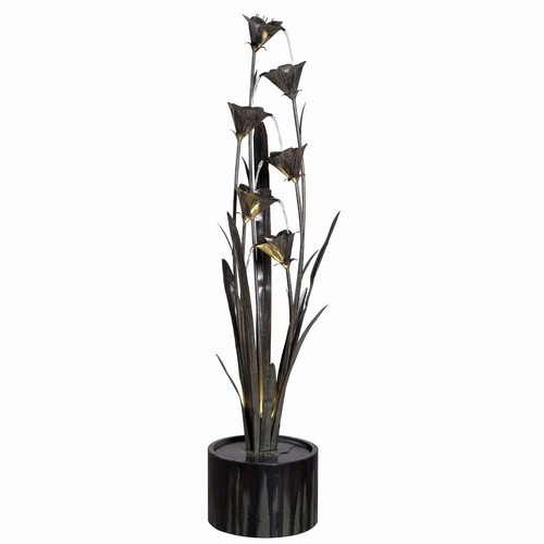 Kenroy Home Lily Indoor/Outdoor Floor Fountain, Blue Bronze [Blue Bronze]