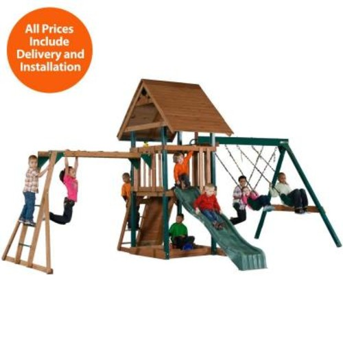 Swing-N-Slide Playsets Installed Skyrise Deluxe Wood Playset