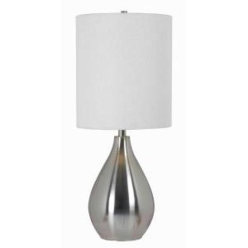 Kenroy Home Droplet 29 in. Brushed Steel Table Lamp