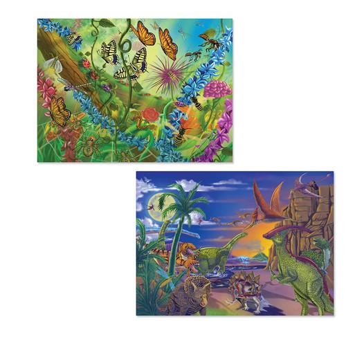 Melissa & Doug 60-pc. Dinosaurs & Bugs Jigsaw Puzzle Set
