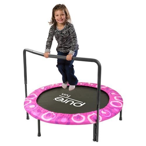 Pure Fun Super Jumper Kids Trampoline with Handrail [Pink]