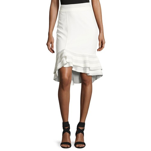 ALEXIS Cynda Ruffled Peplum Skirt, White