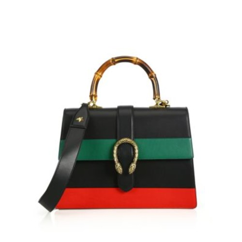 GUCCI Dionysus Leather Top-Handle Bag