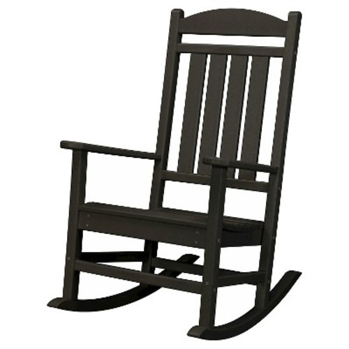 Hanover Black All-Weather Pineapple Cay Patio Porch Rocker