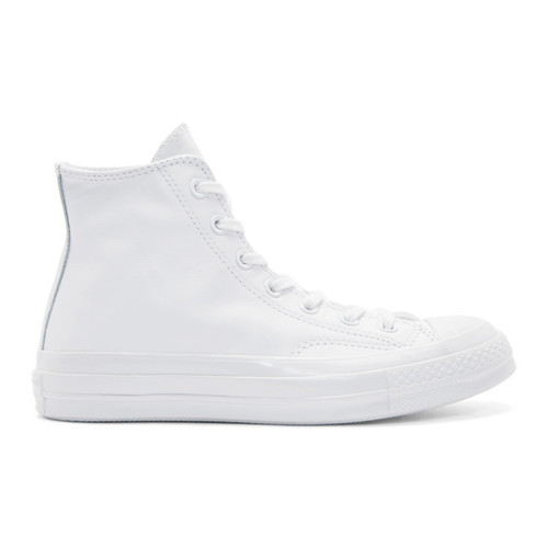 White Leather Chuck Taylor All Star '70 Mono High-Top Sneakers