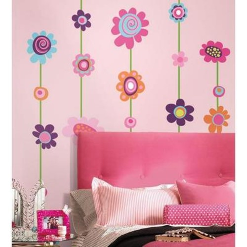 Peel & Stick Giant Wall Decals - Flower Stripe