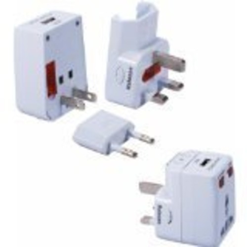 QVS PA-C2 World Power Travel AC Adapter Kit with USB and Surge Protection