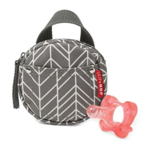 SKIP*HOP Grab & Go Pacifier Pocket in Grey Feather