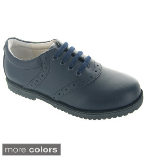 Boy's Westward Leather Eyelet Lace Shoes [option : Brown 10 W]