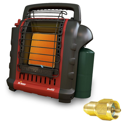 Mr. Heater MH9BX Portable Buddy Heater with Brass Tank Refill Adapter