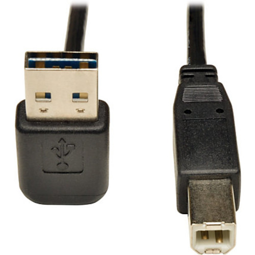 Tripp Lite 6ft USB 2.0 High Speed Cable Reversible Up/Down Angle A to B M/M