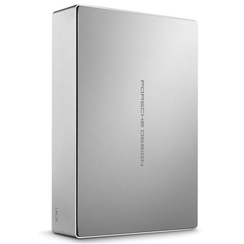 LaCie STFE4000100 4TB USB 3.1 Porsche Design Desktop Drive, USB-C, Silver STFE4000100