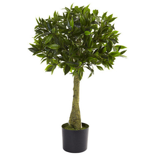 Nearly Natural 3-ft. Bay Leaf Topiary UV-Resistant Indoor/Outdoor