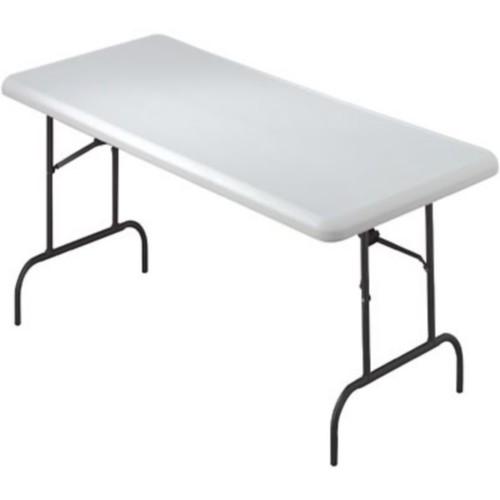 Iceberg IndestrucTable TOO 1200 Series Rectangular Folding Table, Platinum, 29
