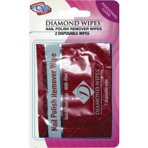 Diamond Wipes Travel Size Nail Polish Remover Pads 6 Packs