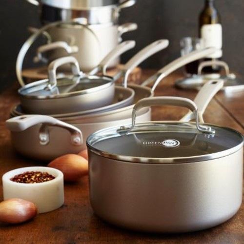 GreenPan Champagne Ceramic Nonstick 11-Piece Cookware Set