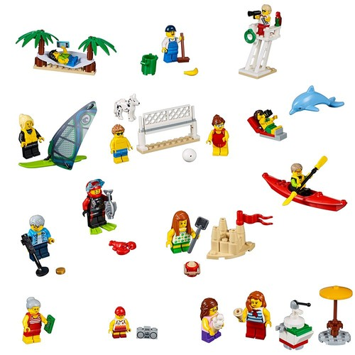 LEGO City Town People Pack  Fun At the Beach 60153 Building Kit (169 Piece)
