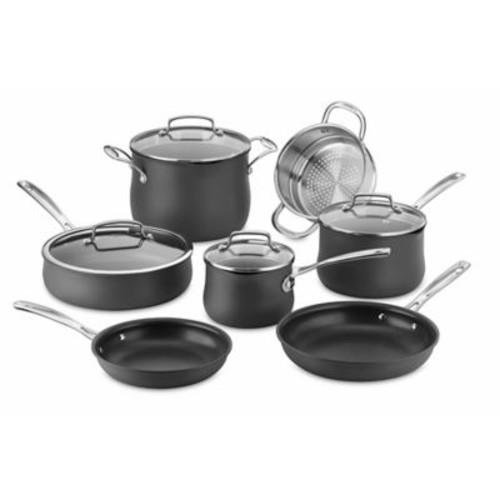 Cuisinart Nonstick Silhouette Hard Anodized 11-Piece Cookware Set in Grey