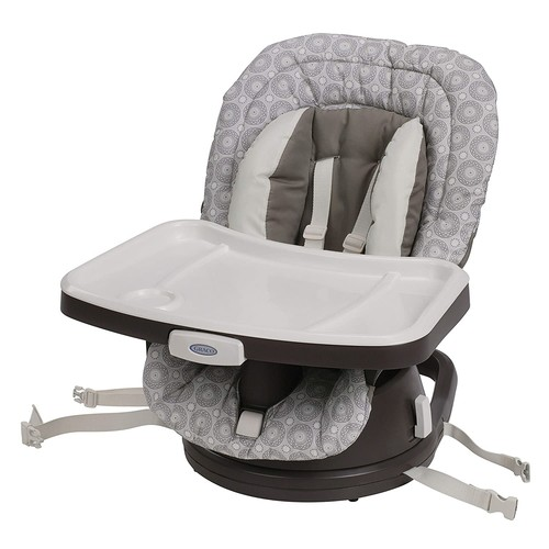 Graco Swivi Seat 3 in 1 Booster High Chair with Smart Swivel Rotating Seat - Abbington