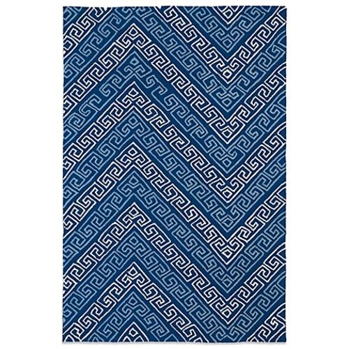 Kaleen Matira Key 5-Foot x 7-Foot 6-Inch Indoor/Outdoor Rug in Blue
