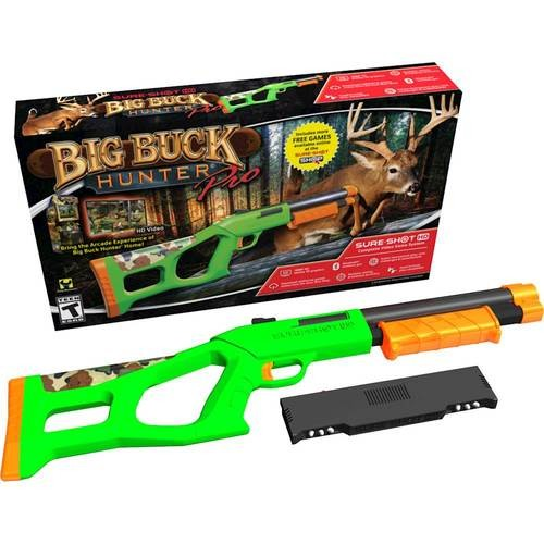 Sure Shot HD - Video Game System Big Buck Hunter Pro Console Bundle - Green/Orange/Black/Camo