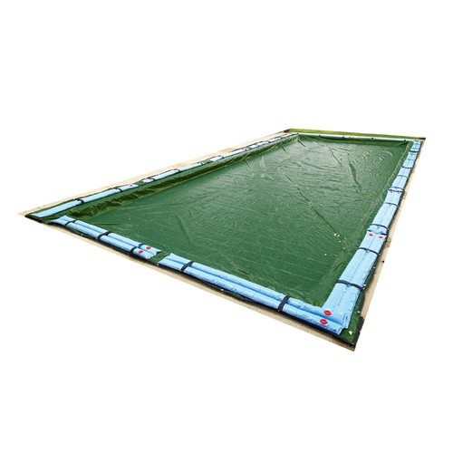 Blue Wave 12-Year Rectangular In Ground Pool Winter Cover In Assorted Sizes [Overall Dimensions : 30 W x 50 L ft.]