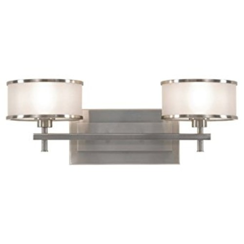 Feiss VS13702-BS Casual Luxury 2 Light Vanity Fixture, Brushed Steel [12.5, 2-Light]
