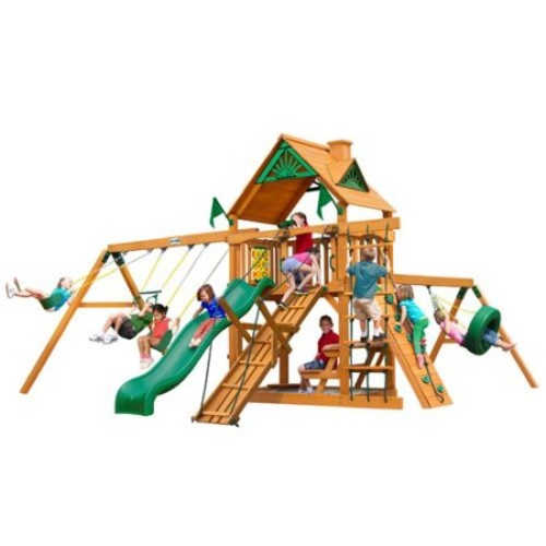 Gorilla Playsets Frontier with Amber Posts Cedar Playset