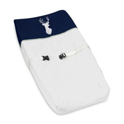 Sweet Jojo Designs Woodsy Changing Pad Cover in Navy/White