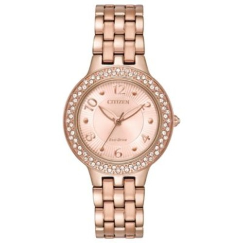Citizen Silhouette Ladies' 31mm Swarovski Crystal Watch in Rose-Goldtone Stainless Steel