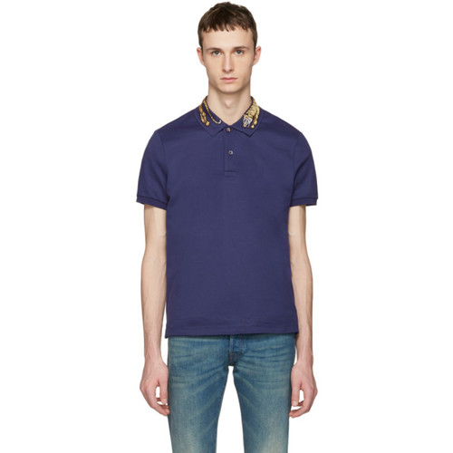 GUCCI Navy Tiger Polo