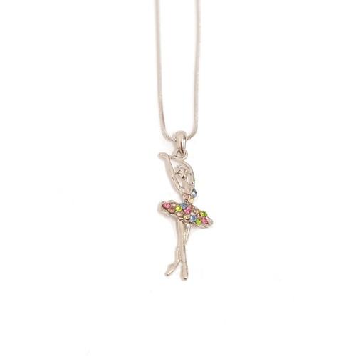 Jeweled Ballerina Necklace