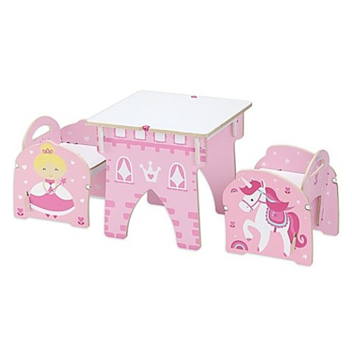 Buildex Princess Castle Table and Chair Set in Pink