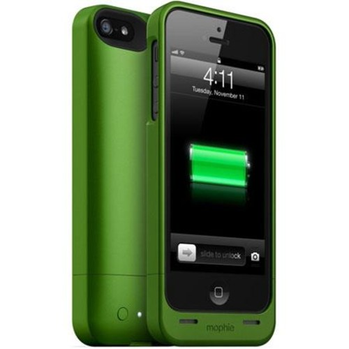 Mophie Juice Pack Helium 1500mAh Battery Case for iPhone 5s/5, Green MO-2466-JPH-GRN