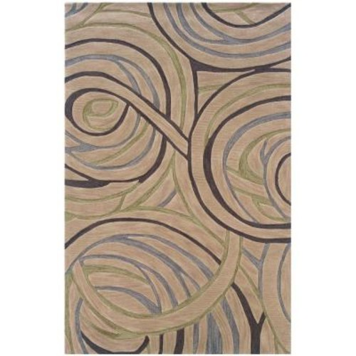 LR Resources Fashion Ivory 5 ft. x 7 ft. 9 in. Luxurious Indoor Area Rug