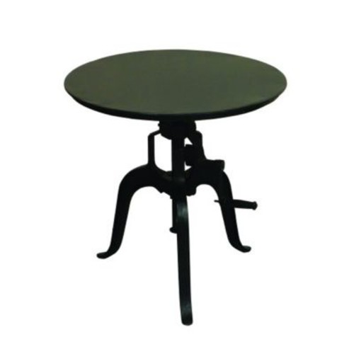 Yosemite Home Decor Cast Iron Metal Accent Table, Black, Each (YFUR-SBAIF116G)