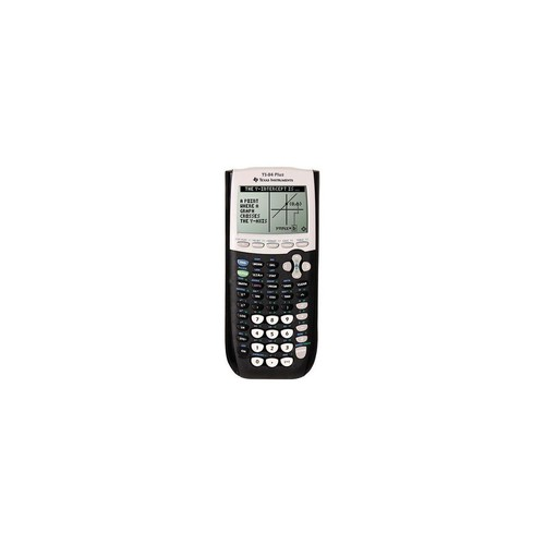 Texas Instruments TI-84 Plus - Impact Resistant Cover, Battery Backup - 480 KB, 24 KB - ROM, RAM - 8 Line(s) - 16 Digits - Battery Powered - 4 - AAA - Black