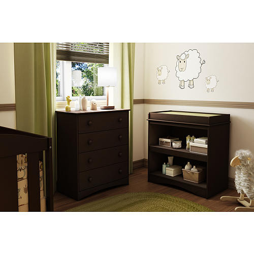 South Shore Furniture Peek-a-Boo Changing Table - Espresso