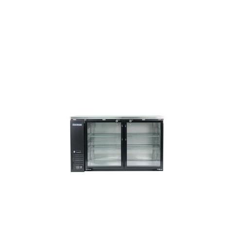 Norpole 16 cu. ft. 2-Glass Door Under Bar Refrigerator, Black