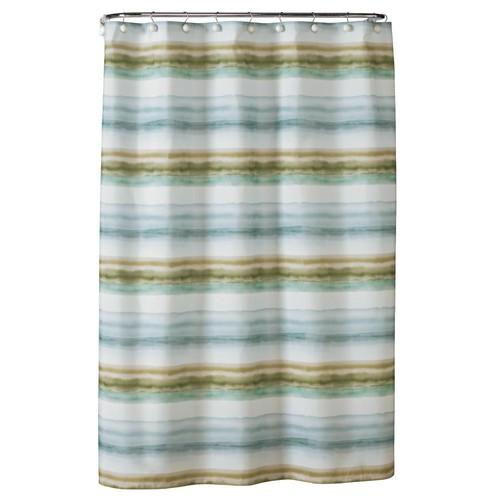 Saturday Knight 72 in. Everglades Fabric Shower Curtain