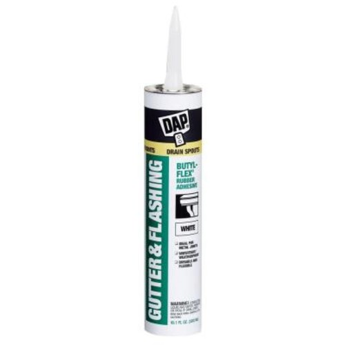 DAP Butyl-Flex 10.1 oz. White VOC Compliant Gutter and Flashing Sealant (12-Pack)