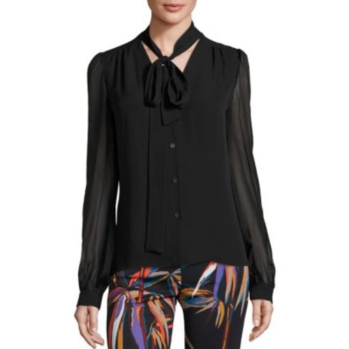EMILIO PUCCI Silk Button Front Blouse