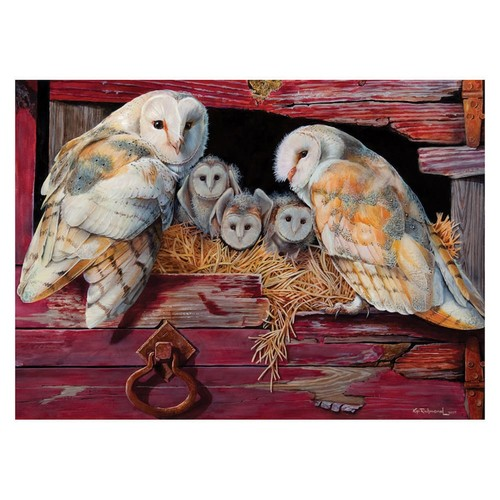 Cobble Hill Barn Owls 1000 Piece Jigsaw Puzzle