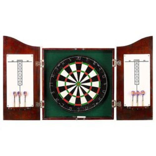 Hathaway Hathaway Centerpoint Solid Wood Dartboard and Cabinet Set, Dark Cherry Finish