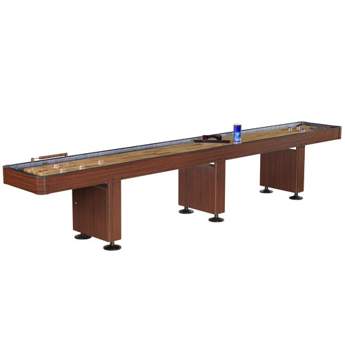 Hathaway Challenger 14-ft Shuffleboard - Dark Cherry finish